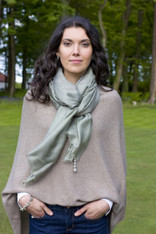 SILK SCARF SAGE GREEN