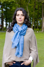SILK SCARF SKY BLUE