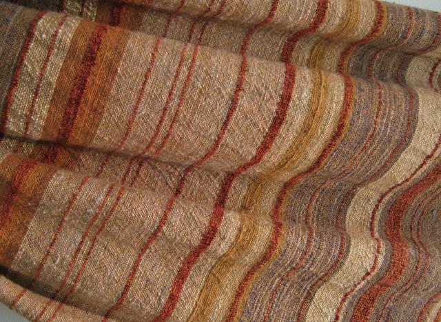 zanshi khadi natural brown cotton warp charkha spun weft