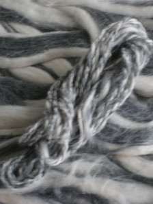 Occupy Wall Street sliver and handspun yarn