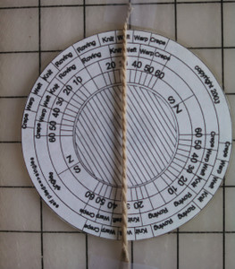 angle gauge with yarn