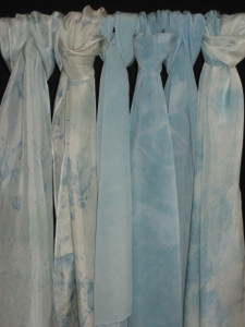 Ice Blue silk scarves