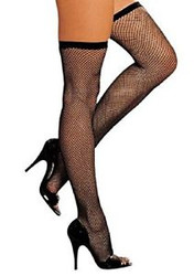 Thigh High Stockings - Fishnets