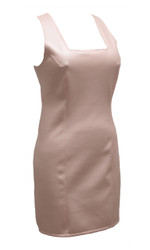 Patent tank dress shown in Pink Leatherette.