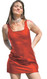 Patent tank dress shown in Red PVC.