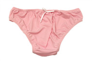 Soft and feminine pink poly blend panties
