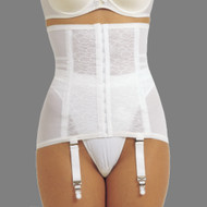 Front view of Firm Shaping Girdle with Garters.
