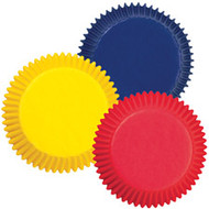 Assorted Primary Color Baking Cups 75ct Wilton