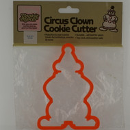 circus clown plastic cookie cutter
