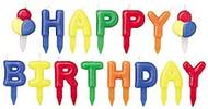 Happy Birthday Candle Pick Set Wilton