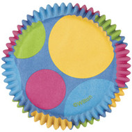 Retro Dots Cupcake Baking Cups 75ct Wilton