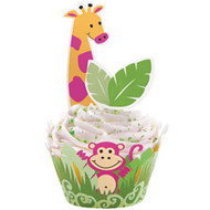 Jungle Pals Cupcake Wraps and Pix 24ct Wilton