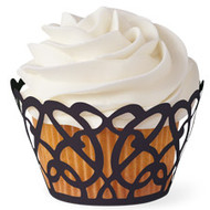 Black Swirls Cupcake Wraps 18ct Wilton