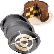 Checkerboard Cake Pan Set Wilton