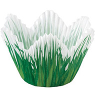 Shaped Grass Cupcake Baking Cups 24ct Wilton
