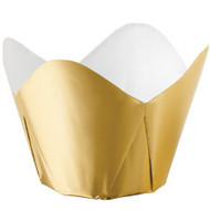 Gold Foil Pleated Baking Cups Wilton
