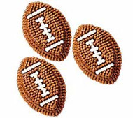 Football Icing Decorations 9ct. Wilton