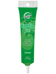 Green Sparkle Gel 3.5oz. Wilton