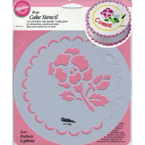 Cake Decorating Number Stencils : CAKE STENCIL ROSE - Cake Supplies for Less