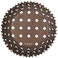 Brown Dots Cupcake Baking Cups 75ct Wilton