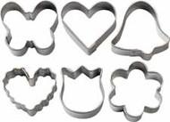 6 pc. Romantic Mini Metal Cookie Cutter Set Wilton