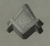 Masonic Emblem Rubber Candy Mold