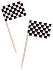 PARTY PICK CHECKERED FLAG x 50