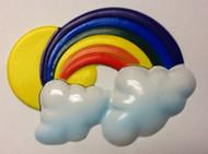 CAKE DECO RAINBOW PLASTIC