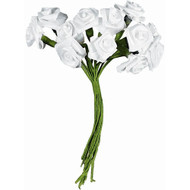 ROSES RIBBON 144PC WHITE