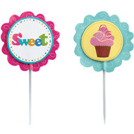PICKS CUPCAKE FUN PIX 12 CT WILTON