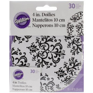 DOILIES DAMASK 4 INCH 30 CT WILTON