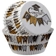 BAKING CUPS CONGRATS GRAD 75 CT