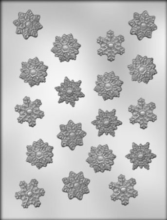 candy mold snowflakes x18
