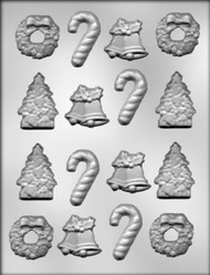 Mold christmas  assortment 5 designs