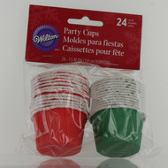 NUT CUPS RED/GREEN 24 CT