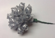 CLOTH ROSEBUD SILVER X12