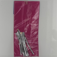 PARTY TREAT BAGS HOT PINK with TWIST TIES