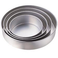 "Round cake pan set 3"" 4PC"
