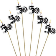50TH CANDLE PICKS 6 PCS