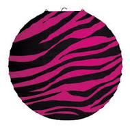 Paper Lantern pink zebra
