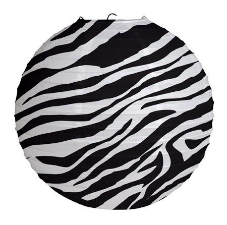 Lantern Zebra Print