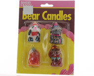 CANDLES BEAR PARTY SET OF 4