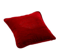 "PILLOW RED KISS 13"" X 13"""