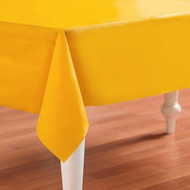 "TABLECOVER PLASTIC 54 X 108""  YELLOW SCHOOL BUS"