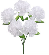 "CARNATION BUSH X5 13"" WHITE"