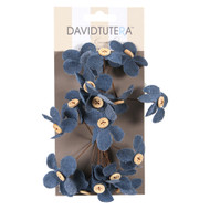FLOWER PICK DENIM BUTTON 16 PC