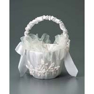 FLOWER GIRL BASKET  CREAM