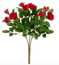 "MINI ROSE BUSH 10"" RED"