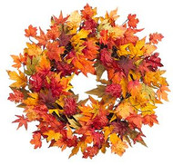 WREATH MAPLE LEAF  28' FALL