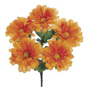 DAISY BUSH GERBERA ORANGE 12""